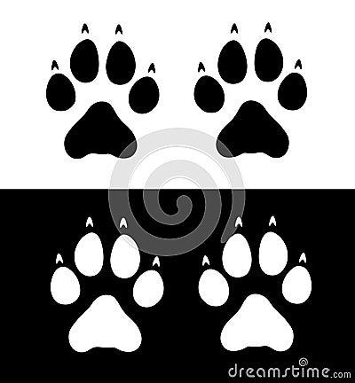 Wolf Paw Prints