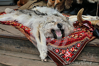 Wolf Skin Rug In Russian Market Stock Photos Image 26931483