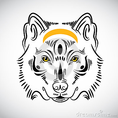 Wolf tattoo stylish illustration