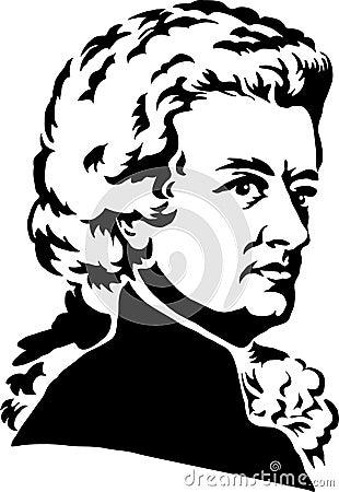 Wolfgang Amadeus Mozart/eps Editorial Stock Image