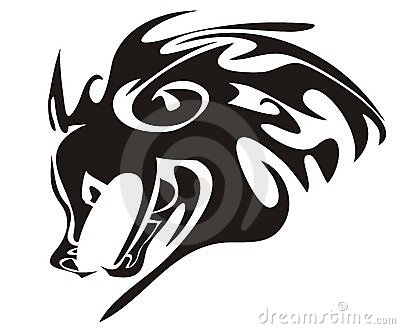 Wolfkopf. Stammes- Tier