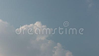 Wolke und Himmel stock footage