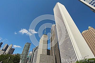 Wolkenkratzer in im Stadtzentrum gelegenem Chicago, Illinois