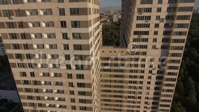 Wolkenkratzer in Moskau stock video