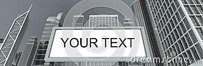 Wolkenkratzer u. Anschlagtafel
