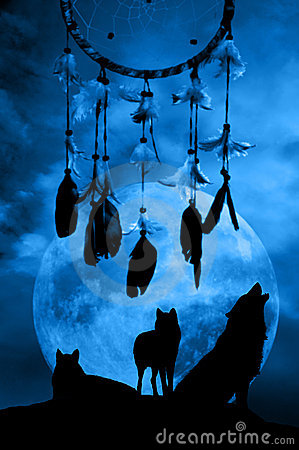 Free Wolves And Dreamcatcher Royalty Free Stock Photography - 11545357
