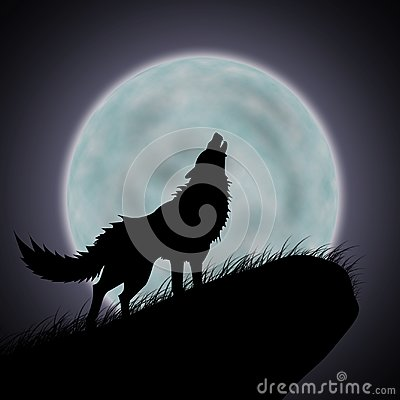 Free Wolves Howl And Full Moon Royalty Free Stock Image - 101553226