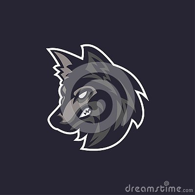 Wolves logo sport Stock Photo
