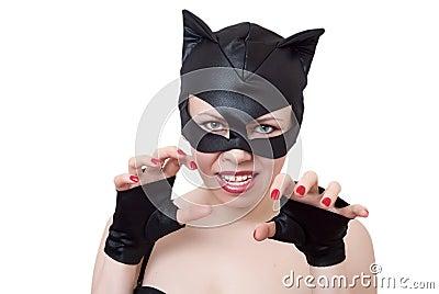 Woma-Katze stellt Angriff dar