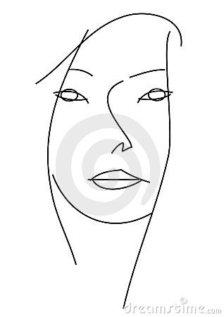 Woman�s face.