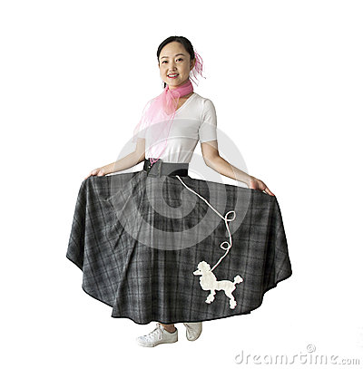Woman in 50 s Clothing