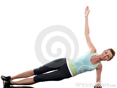 Woman on Abdominals