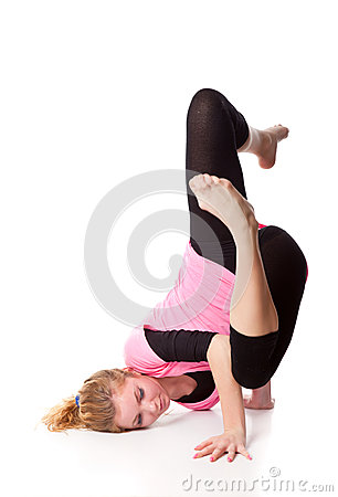 Woman is an acrobat