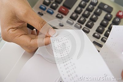 Woman With Adding Machine Tape