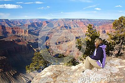 Woman admiring the Grand Canyon, Arizona
