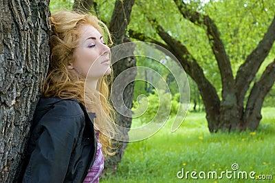 Woman admiring nature