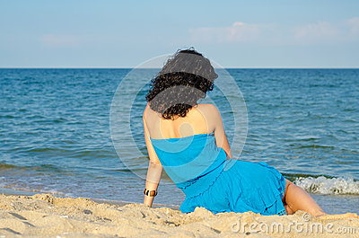 Woman admiring the ocean
