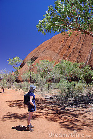 Woman Admiring Uluru