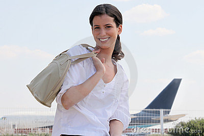Woman At The Airport Stock Photography - Image: 23793042