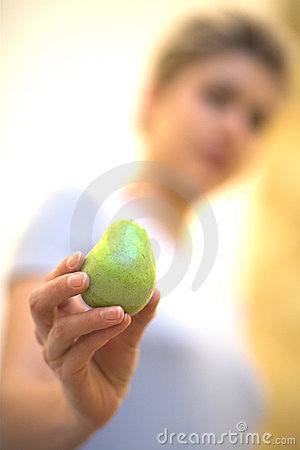 Free Woman And Apple Stock Photography - 2002202