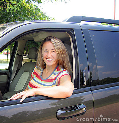 Free Woman And Car Stock Photography - 1014012