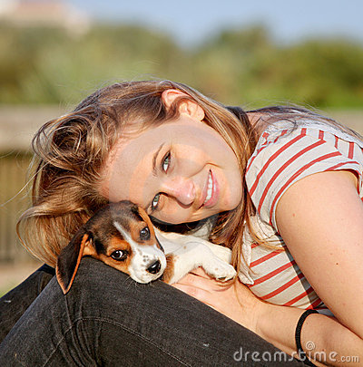 Free Woman And Dog Stock Image - 20347281
