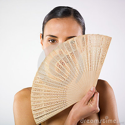 Free Woman And Fan Stock Images - 7142514