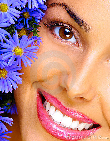 Free Woman And Flowers Stock Photo - 2114360