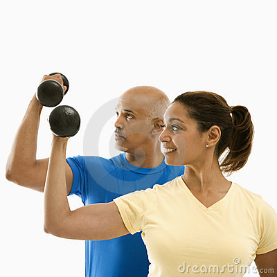 Free Woman And Man Exercising. Stock Image - 2772511