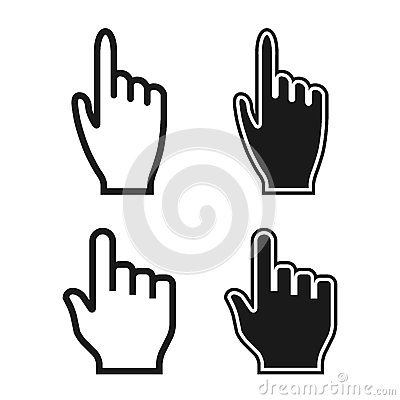 Free Woman And Man Hands. Cursor Icons. Mouse Pointer Set. Vector Stock Photography - 35761362