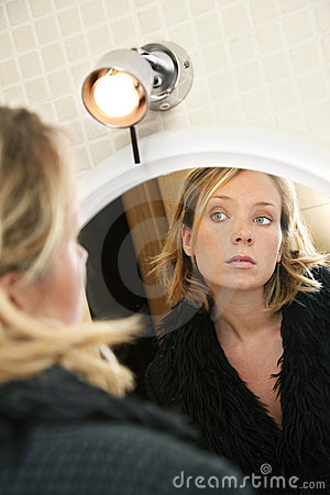 Free Woman And Reflection Stock Image - 2839441