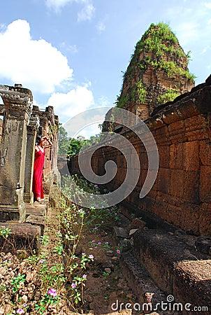 Woman at Angkor