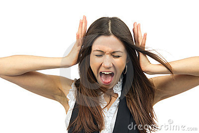 Woman angry yelling frustrated screaming out loud