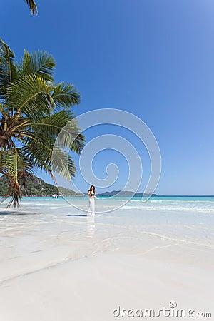 Woman at Anse Volbert, Seychelles
