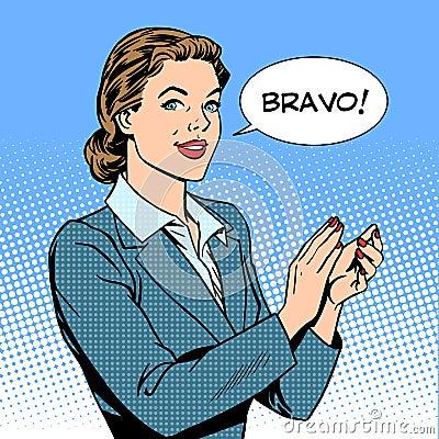 Free Woman Applause Bravo Concept Of Success Stock Photos - 59265083