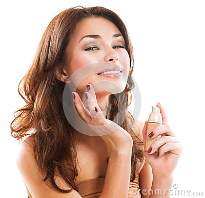 Free Woman Applying Make-up Royalty Free Stock Photo - 28763675