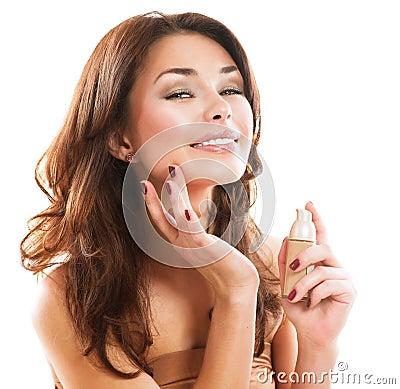 Free Woman Applying Make-up Royalty Free Stock Photo - 28763675
