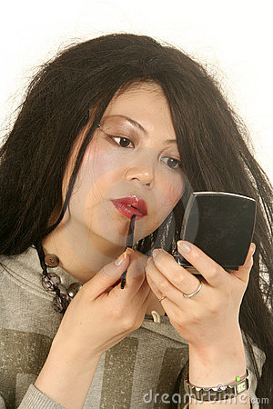 Woman Applying Makeup Stock Photos - Image: 19507553