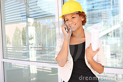 Woman Architect On Construction Site Royalty Free Stock Image - Image: 6767516