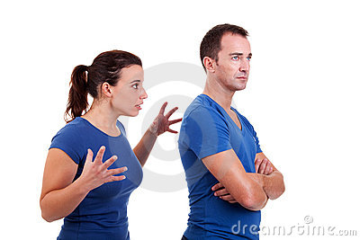 Woman arguing with a man