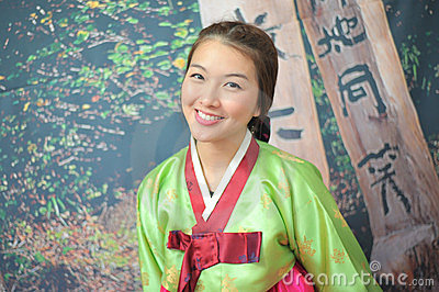 Woman asian girl hanbok dress