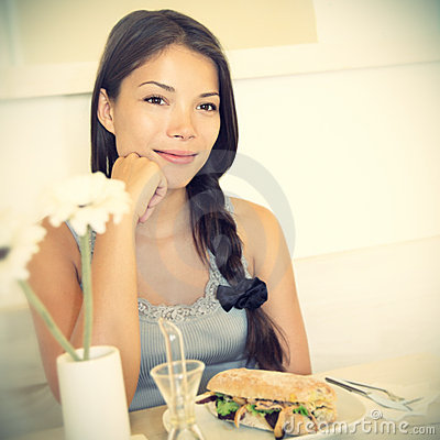 Free Woman At Cafe Stock Photography - 15927012