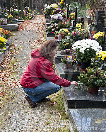 Free Woman At Cemetery Stock Photos - 17249043