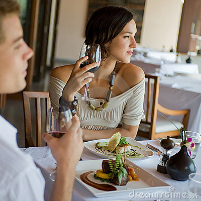 Free Woman At Dinner Royalty Free Stock Photo - 5523095