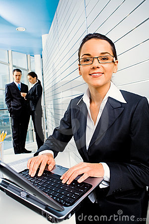 Free Woman At Work Royalty Free Stock Image - 4359666