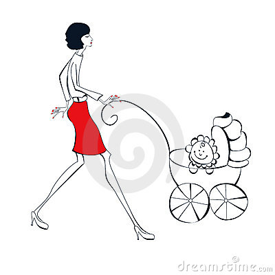 Woman with baby