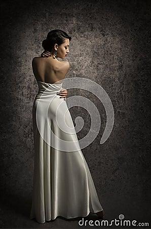 Free Woman Back Beauty Portrait, Elegant Lady Posing In Sexy Dress, S Royalty Free Stock Photo - 51155375