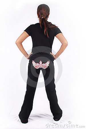 Free Woman Back Side Stock Image - 4199811