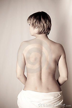 Woman, back, tenderness and beauty