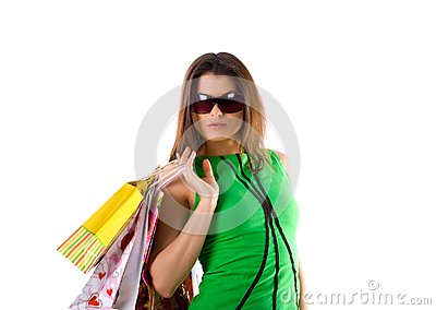Woman and bags